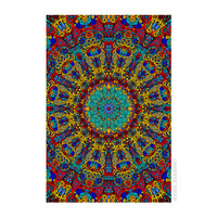 Psychedelic Sunburst - 3D Tapestry on Sale for $26.95 at HippieShop.com