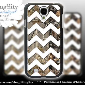 Camo White Chevron Galaxy S4 case S5 Real Tree Camo Deer Personalized RealTree Samsung Galaxy S3 Case Note 2 3 Cover