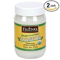 Nutiva Organic Extra Virgin Coconut Oil, 15-Ounce Tubs (Pack of 2): Amazon.com: Grocery & Gourmet Food