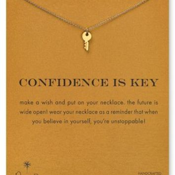 Dogeared Confidence is Key Necklace, 18"