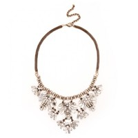 Sole Society Etched Tribal Statement Necklace