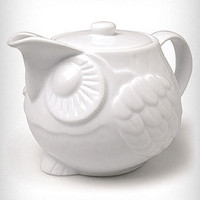 Wise Owl Ceramic Teapot
