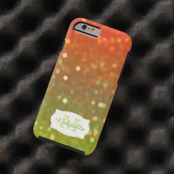Personalized Orange and Green Glimmer Case