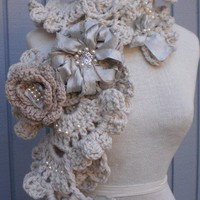 sea shell scarf gray