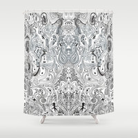 Histological section of my inner world (#4);original version Shower Curtain by Barruf designs