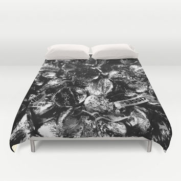 Sweet Dreams are made of this, just give me a kiss Duvet Cover by Laura Santeler