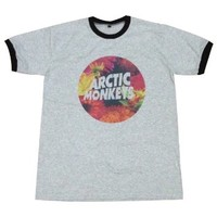 Arctic Monkeys T-Shirt floral music band rock alternative / GV68.4 size L