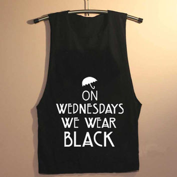 on wednesdays we wear black yuppy shop for Tank top Mens and Girls available S - XXL customized