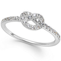 B. Brilliant Cubic Zirconia Knot Ring in Sterling Silver (1/4 ct. t.w.)