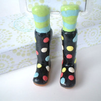 Black Rainboot Bookmark - Polka Dotted - Birthday Gift - Fun and Unique Bookmarks