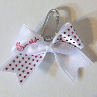 Chick-fil-a Rhinestone Key Chain Cheer Bow Cheerleading
