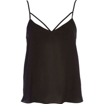 Black strappy cami top - cami / sleeveless tops - tops - women