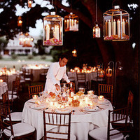 Hanging Lanterns - Good Things for Summer Weddings - You're Engaged! - MarthaStewartWeddings.com