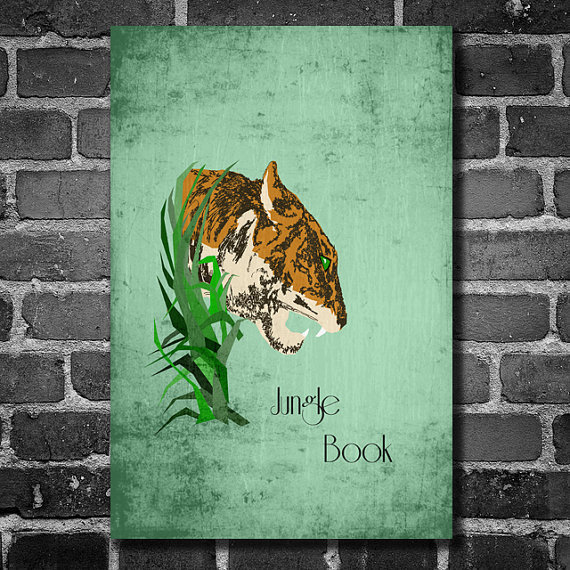 Disney Art The Jungle Book Poster movie poster disney poster 11x17