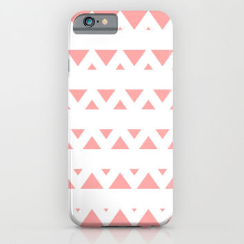 Coral Pink Tribal Triangles iPhone & iPod Case by BeautifulHomes