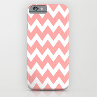 Chevron Coral Pink iPhone & iPod Case by BeautifulHomes