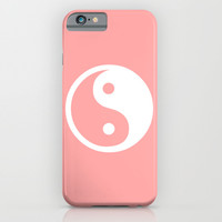 Coral Pink Harmony Yin Yang iPhone & iPod Case by BeautifulHomes