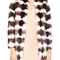 Rabbit Fur Multi Jacket