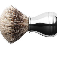 Handcrafted Pewter Shaving Brush