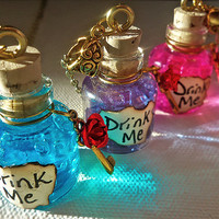 Blacklight Neon Drink Me Vial Necklace