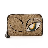 Embroidered Clutch with Wink