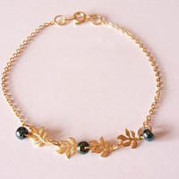 charm bracelet, chain bracelet, gold plated bracelet, simple bracelet, beaded bracelet, dainty bracelet, modern jewelry by SABOTAGEandCO