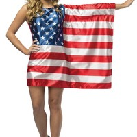 USA Flag Dress Teen Costume - Halloween Costumes