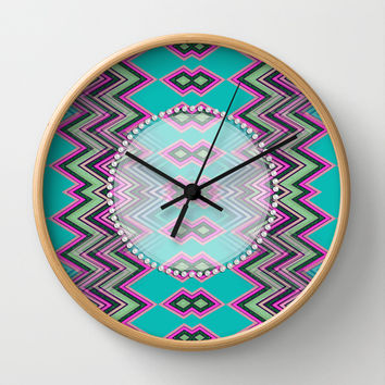 Uzochia Zigzag Wall Clock by Webgrrl