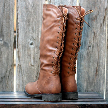 laced up riding boots