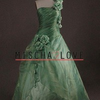 Stunning Couture Gown in Green by MischaLove on Sense of Fashion