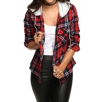 Red Casual Day Plaid Top