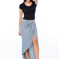 Knotty Satisfaction High-Low Skirt