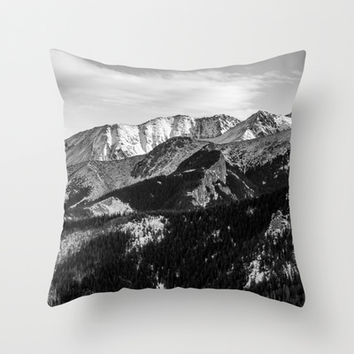 Black and White Mountains Throw Pillow by Pati Designs | Society6