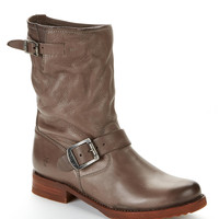 Frye Veronica Shortie Leather Boots Shoes 3476509-BLK at BareNecessities.com