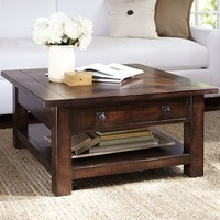 Benchwright Square Coffee Table - Rustic Mahogany