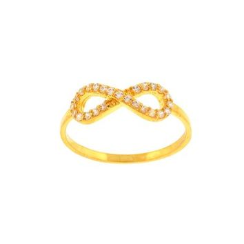 SKU Jewelry INFINITY CZ Gold Plated Ring