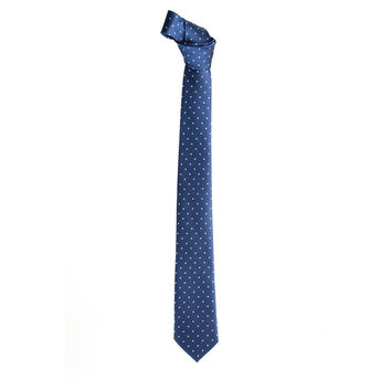 Mens Pin Dots Print Pattern Fashion Tie Necktie