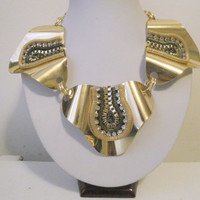 Free Shipping: Gold Bold Necklace/ Unique Necklace/ African Necklace