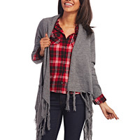 Open Fringe Cardi | Wet Seal