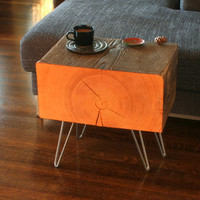 Forest Koan Coffee Table with hairpin legs - reclaimed old growth, mod