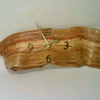 Rustic Wooden Clock by DeerwoodCreekGifts