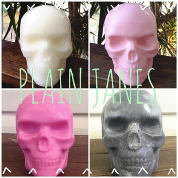 Plain Jane Scented Skull Candle / Unique Christmas Presents / Hand Poured