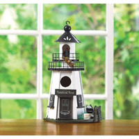 White Wood Lighthouse Birdhouse