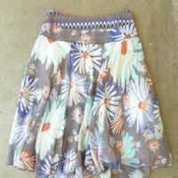 In Full Bloom Vintage Print Skirt [2271] - $29.00 : Vintage Inspired Clothing & Affordable Summer Dresses, deloom | Modern. Vintage. Crafted.