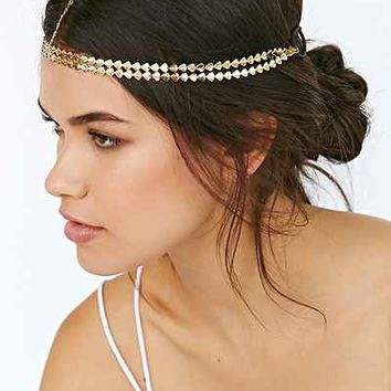 Golden Arrows Goddess Chain Headwrap - Urban Outfitters