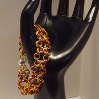 7 inch &quot;Iron Man&quot; Olivia Weave Chainmaille Bracelet...SRAJD