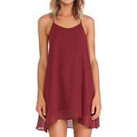 De Lacy Hollywood Mini Dress in Red