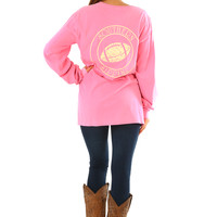 Southern Sippin': Football Shirt: Flamingo