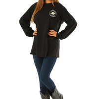 Southern Sippin': Football Shirt: Black