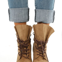Just A Crush Boots: Taupe